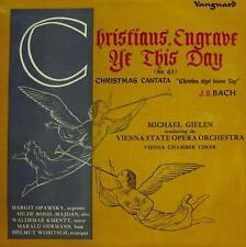"Bach(10"" Vinyl)Christians Engrave Ye This Day/Christmas Cantata-Vanguar-NM/NM"