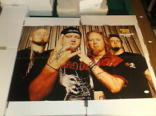 DAVE WILLIAMS AND DROWNING POOL ORIGINAL 4 SIGNED MUSIC POSTER W/ JSA COA RARE