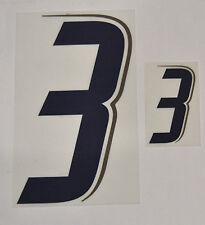 """Grafica UFFICIALE ITALIA MONDIALI 2006 Home Numero e Numerino """"3"""" blu"""