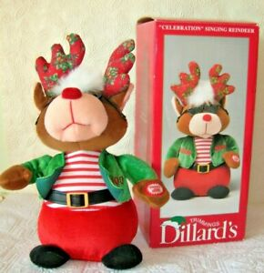 Christmas  Animated Reindeer Dances and Sings  Celebrate  See Video