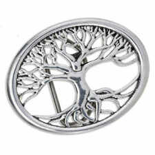 Tree of Life Belt Buckle - St Justin Pewter BU810