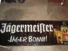 "Huge 4' x 11'7"" Heavy Vinyl Jagermeister Jager Bomb Banner Tarp Bar Sign Mancave"