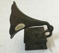 vintage pencil sharpener metal small old fashion record player replica shape