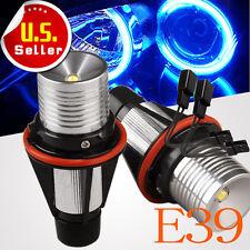 2x Ultra Blue 7W ANGEL EYES HALO Ring Marker LED Light For BMW E39 E60 E61 E53