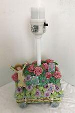 Karla Dornacher Lamp Girl's Room Nursery Decor Table Pink Flowers Rose Garden
