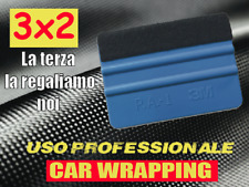 3x2! Spatola professionale 3M con feltro pellicola CARBONIO adesivo CAR WRAPPING