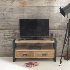 Harbour Indian Reclaimed Wood And Metal Furniture Small Television Cabinet Unit