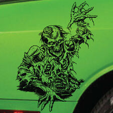 Zombie Skull Brain Side Tailgate Hood Decal Vehicle Truck Car Vinyl Sticker SUV