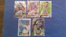 NEW YORK METS 2017 BOWMAN CHROME BCP-76 ROSARIO/STRAWBERRY ( 5-CARD ROOKIE LOT )