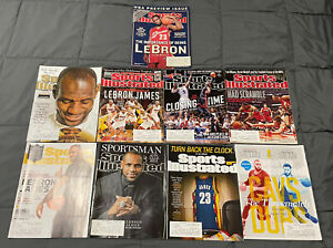 Lebron James Sports Illustrated Lot Of 9 Magazines Very Good Condition 2003-2017