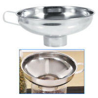 Stainless Steel Wide Mouth Funnel Canning Hopper Filter Food Pickles Kitchen New