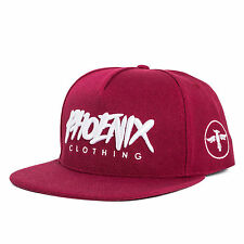 Phoenix Spirit Snapback Cap - Burgundy Rot Fashion Hat Kappe Mütze New Baseball