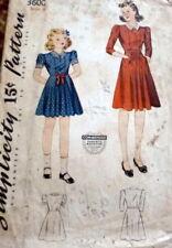 LOVELY VTG 1940s GIRLS DRESS Sewing Pattern 8