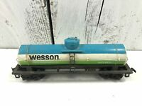 Tyco HO Scale Wesson Pure Oil Single Dome Tank Car GATX #9876