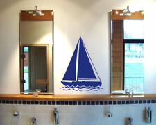 Segelyacht Wandtattoo Segelschiff  25 Farben 7 Größen Wandaufkleber Wandsticker