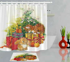 Small Animals Waterproof Bathroom Polyester Shower Curtain Liner Water Resistant