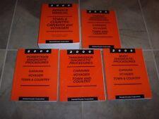 2000 Dodge Caravan & Grand Shop Service Repair Manual Set Sport SE 2.4L 3.0L