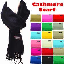 Women Men Winter Plain Solid 100% Cashmere Wool Wrap Scarf Scotland Made Scarves