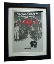 LYNYRD SKYNYRD+Survivors+POSTER+AD+RARE ORIGINAL 1977+FRAMED+EXPRESS GLOBAL SHIP