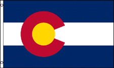 2x3 Colorado State Superpoly Flag 2'x3' Banner Brass Grommets-Free Shipping