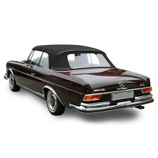 Mercedes W111 280SE 250SE Convertible Soft Top Replacement Black Stayfast Cloth