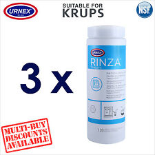 3 x Urnex Milk Spout Frother 120 Cleaning Tablets for Krups Coffee Machine