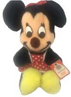"Vintage Walt Disney Characters Minnie Mouse Plush 15"" Disneyland Original"