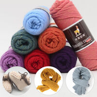100g Thick Yarn Colorful Alpaca Wool Yarn For DIY Hand Knitting Crochet Yarn