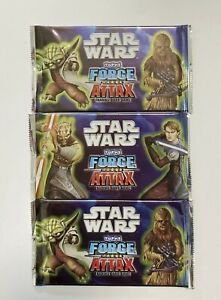 Lot of 3 Star Wars Force Attax Series 2 Trading Card Packs Topps