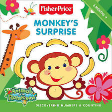 Fisher-Price Animals of the Rainforest Board Book - Numbers and Counting - New