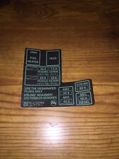 1984-1988 Toyota Pickup Truck 4runner Fuse Box 22r/re Decal Sticker Repro 10a