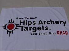Used Hips Archery Targets 28 X 39 Less Shred More Dead Store Cloth Banner $9.99