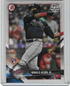 2018 Topps Bowman Holiday RONALD ACUNA JR Rookie Card (RC) #TH-RAJ