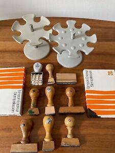 2 x Stempelkarussell für 12 Stempel Metall Stempelhalter Stempelständer