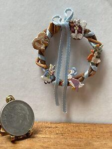 VTG Artisan MARKLAND Easter Peter Rabbit Wreath Dollhouse Miniature 1:12