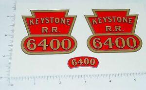 Keystone Ride On #6400 Locomotive Stickers       KY-010