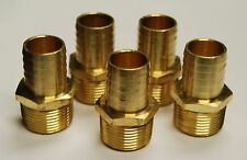 "Brass Fittings: Male Hose Barb, Male Pipe 3/4"", Hose ID 1"", QTY. 1"