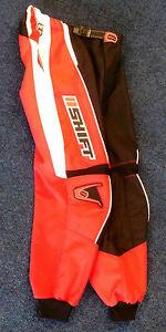 """Shift - Kids Assault MotoX Race Trousers - Red - 28"""" Waist"""