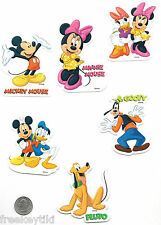 6 Classic Disney Mickey Mouse Club Minnie Stickers Lot Decals Party Favors
