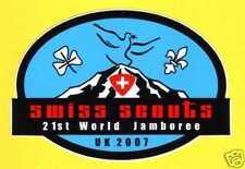 2007 World Scout Jamboree SWITZERLAND / SWISS SCOUTS Contingent Decal / Sticker