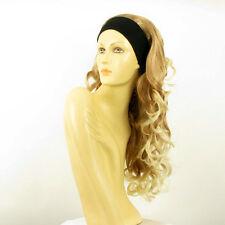 Perruque avec bandeau blond clair cuivré blond clair ref KAMELYA en 27T613