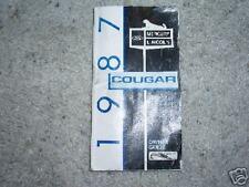 87 Mercury Cougar Owners Manual Guide
