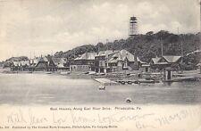 Boat Houses along East River Drive Philadelphia PA - Litho 1905 Good UDB