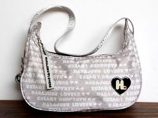 HARAJUKU LOVERS GRAY WHITE PRINT MINI HOBO PURSE BOHO SHOULDER BAG HANDBAG