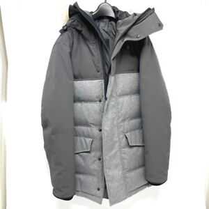 CANADA GOOSE 2581M CLARENCE COAT Fur Down Puffer Jacket Gray