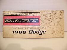 1966 DODGE DART OWNERS OPERATORS MANUAL OEM