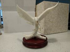 """Eagle Porcelain With Gold Trim By San Francisco Music Box """"Retired"""""""