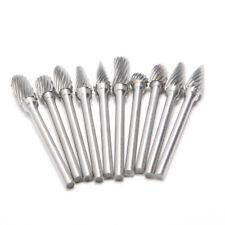 10PCS 6mm Head Tungsten Carbide Rotary Point Burr Die Grinder Bit  Milling Bits