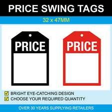 32 x 47mm Swing Tags - PRICE