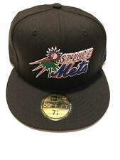 New Era St. Lucie Mets Black Custom collection 59FIFTY Fitted Hat 7 3/8